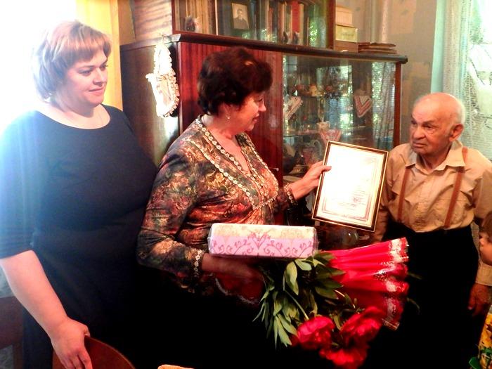Житель посёлка Советский, ветеран ВОВ Николай Плехов отпраздновал 90-летний юбилей