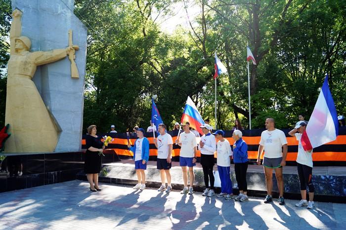 В Советском районе прошла международная факельная эстафета  «Бег Мира»